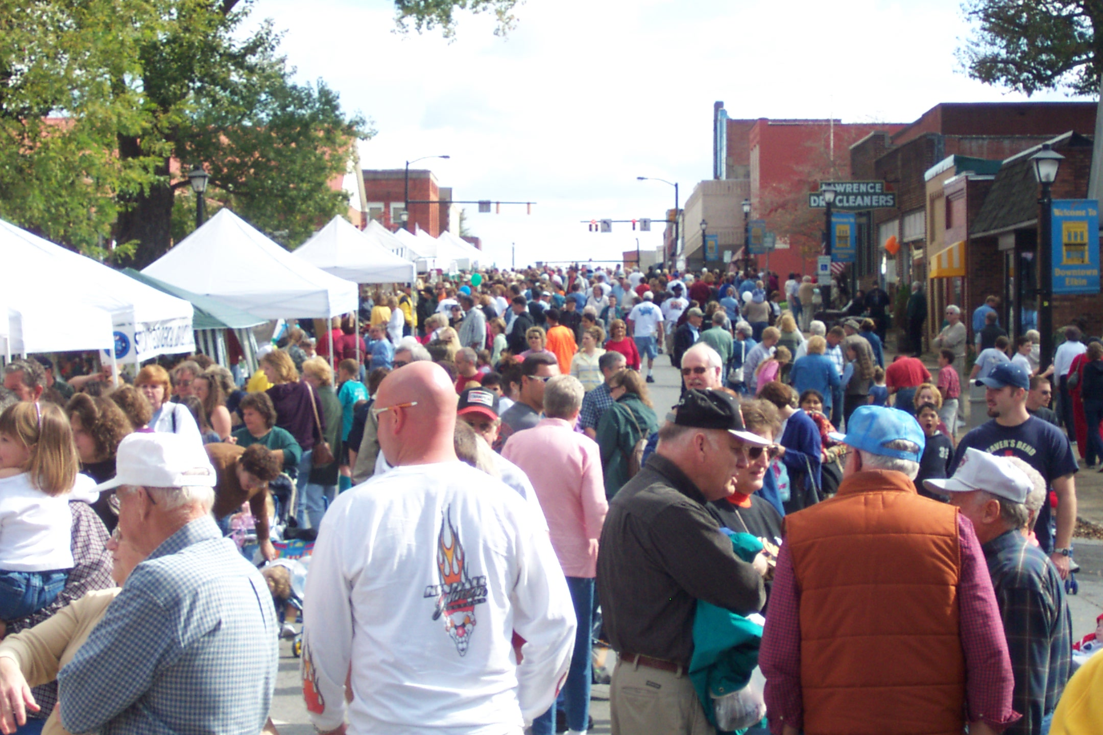pumpkin festival, elkin, downtown